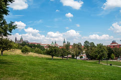 Park in Prague Stock Images