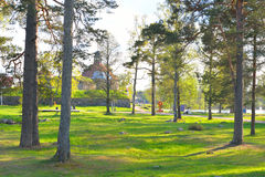 Park in Priozersk. Royalty Free Stock Photography