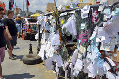 Park-Proteste und Ereignisse Taksim Gezi Stockbild