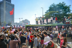 Park-Proteste und Ereignisse Taksim Gezi in den Protesten in Taksim-suff Lizenzfreies Stockbild