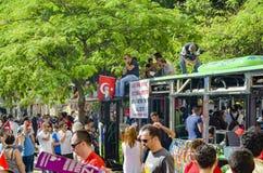 Park-Proteste und Ereignisse Taksim Gezi in den Protesten in Taksim-suff Lizenzfreie Stockfotografie