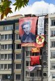 Park-Proteste und Ereignisse Taksim Gezi Die Ansicht von Taksim Squar Lizenzfreie Stockbilder