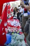 Park-Proteste und Ereignisse Taksim Gezi Produkte verkauft in den protes Stockbild