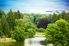 Park Pruhonice in the Czech Republic Stock Image
