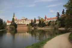 Park Pruhonice nahe Prag stockbild