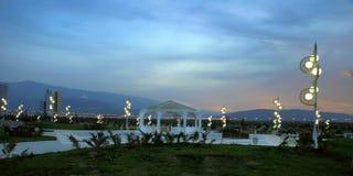 Park przy nocą. Turkmenistan. Zdjęcia Stock