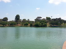 The park in Ra`anana, Israel. A weekend trip to the Raanana Municipal Park Royalty Free Stock Photography