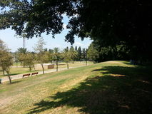 The park in Ra`anana, Israel. A weekend trip to the Raanana Municipal Park Stock Photography