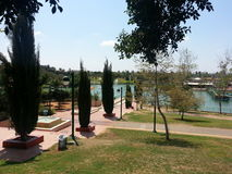 The park in Ra`anana, Israel. A weekend trip to the Raanana Municipal Park Stock Image