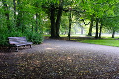 Park on rainy day Stock Image