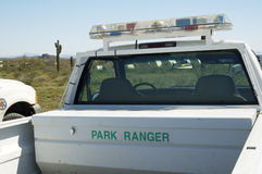 Park Ranger. Vehicle in a state park Stock Photos
