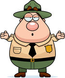 Park Ranger Confused Royalty Free Stock Images