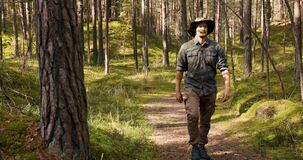 Park ranger or forester on the forest walk