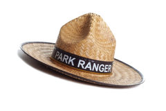 Park Ranger hat. A Park Ranger's straw hat Royalty Free Stock Photos