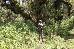 Park ranger at the Volcanoes National Park Stock Photo