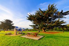 Park with recreational facilities Stock Images