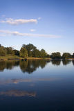 Park reflected in the lake Stock Photography
