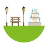Park related icons image Royalty Free Stock Images