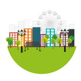 Park related icons image Stock Photo