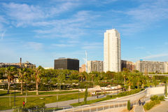 A park and residential area in Valencia Stock Photo
