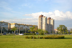Park and residential suburb of St. Petersburg. Royalty Free Stock Photos