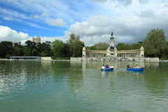 Park Retiro in Madrid Stock Images