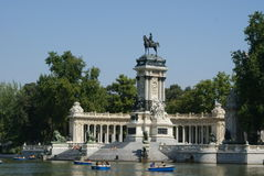 Park Retiro in Madrid (Spain) Stock Image