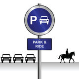 Park and ride Stock Photo