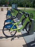 Park and Ride Bicycles Royalty Free Stock Image
