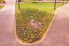 Park of Riga in spring, Latvia, Europe. Park of Riga with flowers in spring, Latvia, Europe royalty free stock photo