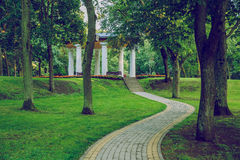 Park in Riga, Ziemelblazma. 2016 stock photo
