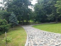 Park Rila, Dupnitsa, Bulgaria. Grass, tree, nature, relax Royalty Free Stock Photos