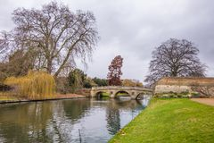 Park on the river in Oxford university. Park on the river  Cherwell in Oxford university, Oxford, United Kingdom Stock Image