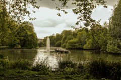Park and river. 2017 England, London in park Stock Photography