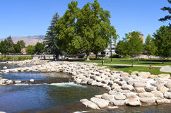 Park and river near downtown Reno, NV. Stock Photography