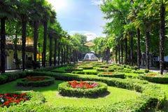 Park Riviera in de stad van Sotchi Stock Afbeeldingen