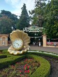 Park Riviera. The entrance to the Park & x22;Riviera& x22; in Sochi & x28;Russia& x29 Stock Photo
