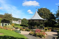 Park Road Gardens, Grange-over-Sands, Cumbria Royalty Free Stock Images