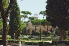 Park in Rome, Italy Villa Borghese Royalty Free Stock Photo