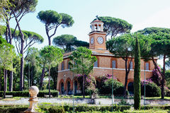 Park in Rome, Italy Villa Borghese Stock Image