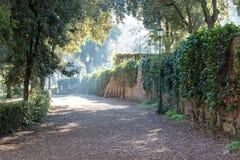 Park in Rome near villa Borghese. Italy stock image