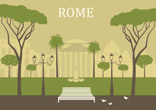 Park in Rome. Stock Photo