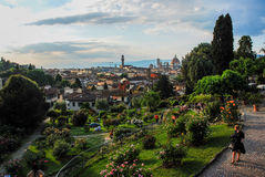 The Park of Roses. Florence cityscape, Tuscany, Italy 2015 Royalty Free Stock Images