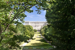 Park at Royal Palace Madrid Stock Photo