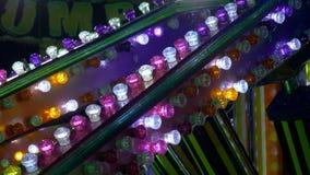 Park rozrywki żarówki światło zbiory wideo