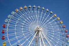 Park rozrywki, Ferris koło Obrazy Royalty Free