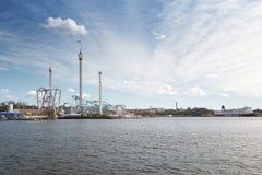 Park rozrywki Grono Lund od nadmorski zdjęcia stock