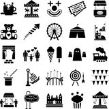 Park Rozrywki ikony Zdjęcie Royalty Free