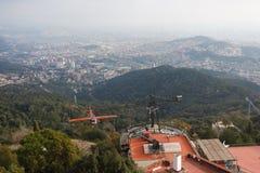 Park rozrywki na Tibidabo wzgórzu, Barcelona Obrazy Stock