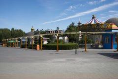 Park rozrywki, nowożytna architektura Zdjęcia Stock